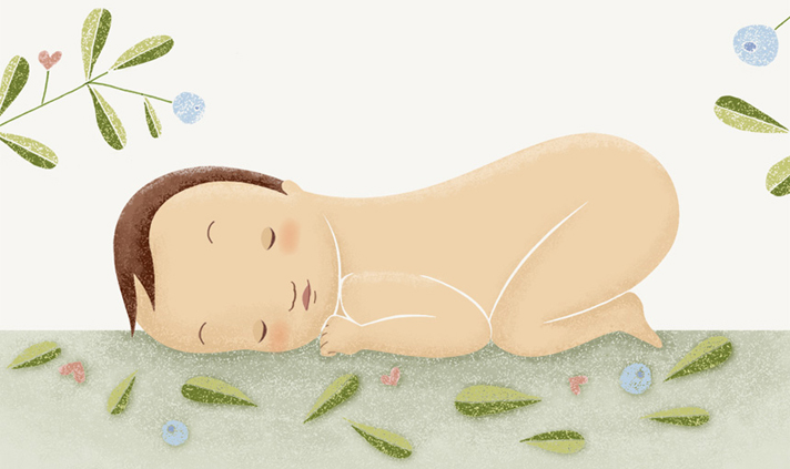 Bebé durmiendo, por Úrsula Epops