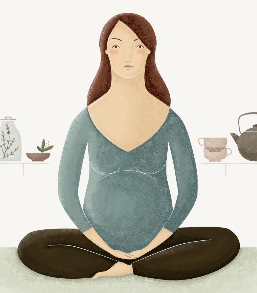 Mujer embarazada, por Úrsula Epops